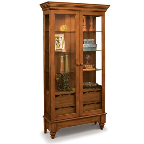 Philip Reinisch Color Time Summerville Display Cabinet In Chestnut