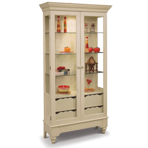 Philip Reinisch Color Time Summerville Display Cabinet In Sandshell White