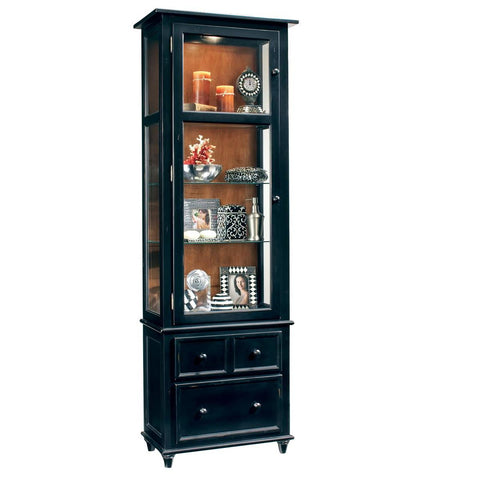 Philip Reinisch Color Time Vista Display Cabinet In Pirate Black