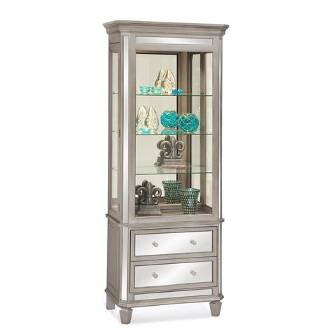Philip Reinisch Folio Presidio II Accent Cabinet in Distressed Silver