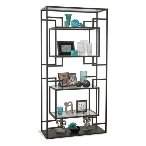 Philip Reinisch Halo Serpens I Contemporary Etagere in Midnight Black