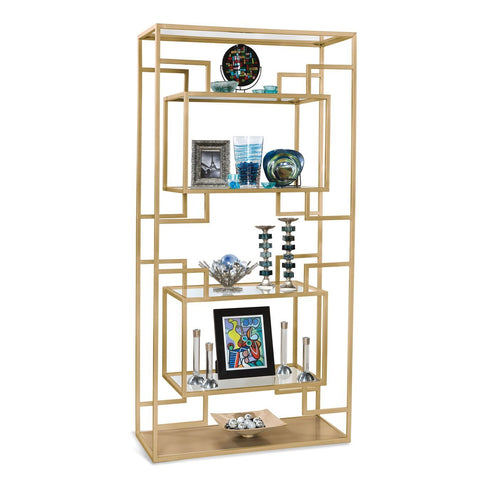 Philip Reinisch Halo Serpens III Contemporary Etagere in Citation Gold