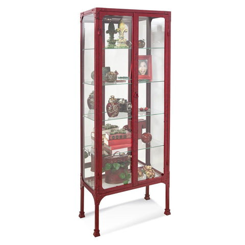 Philip Reinisch Kildair III Accent Cabinet in Antique Red