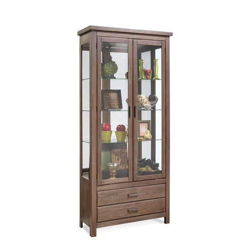 Philip Reinisch Lighthouse Ashbury Two Doors w/Drawer Accent Cabinet in Rustic Oak