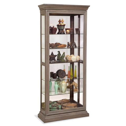 Philip Reinisch Lighthouse Destiny II Two Way Sliding Door Curio Cabinet
