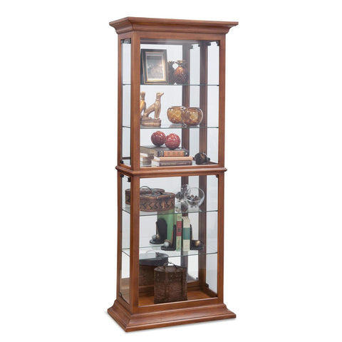 Philip Reinisch Power Cabinet Fairfield I Curio Cabinet in Old Oak