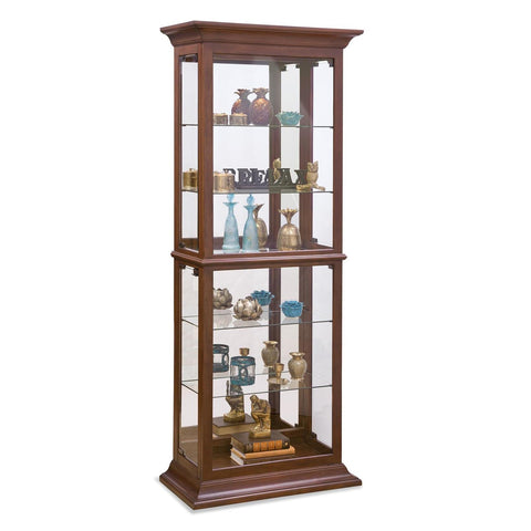Philip Reinisch Power Cabinet Fairfield II Curio Cabinet in Cherry