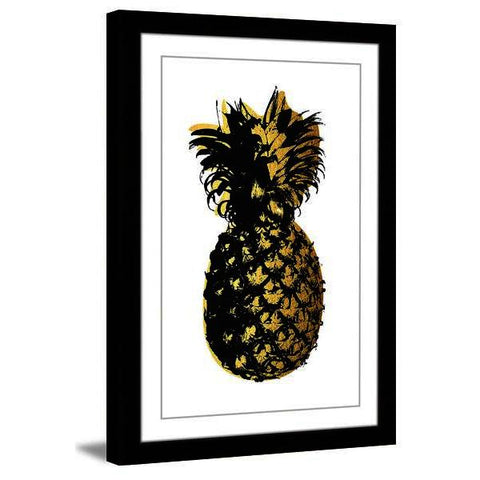 Pineapple Golden Framed Painting Print