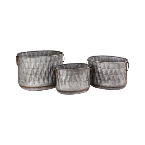Pomeroy Bailey Set of 3 Oval Planters