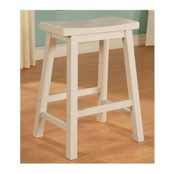Powell 270-431 White Saddle Bar Stool