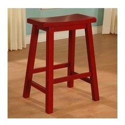 Powell 286-431 Red Saddle Bar Stool