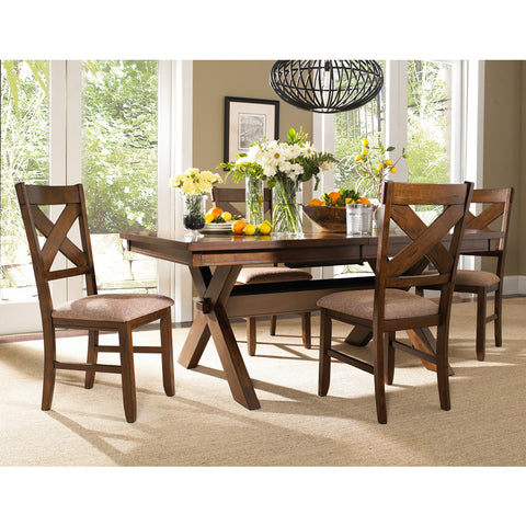 Powell 5 Piece Kraven Dining Room Set in Dark Hazelnut