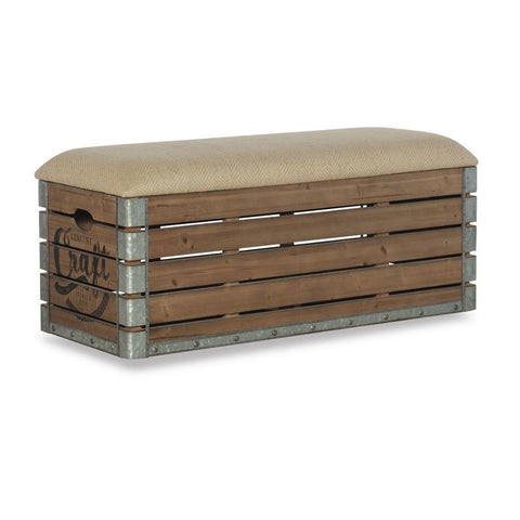 Powell Adria Storage Bench in Natural