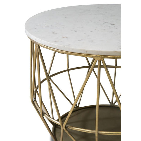 Powell Anderson Gold Wire Side Table
