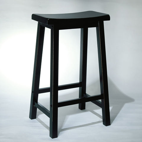 Powell Antique Black w/ Sand Through Terra Cotta Bar Stool