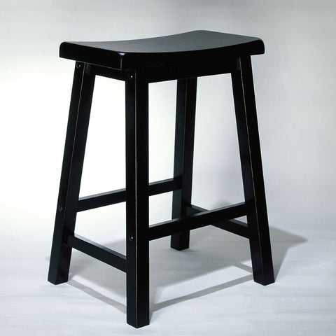 Powell Antique Black w/ Sand Through Terra Cotta Counter Stool