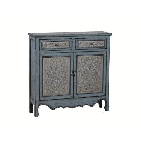 Powell Antique Blue And White Console
