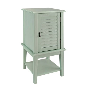 Powell Aqua Shutter Door Table