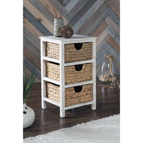 Powell Ari Basket Stand in Natural Whitewash
