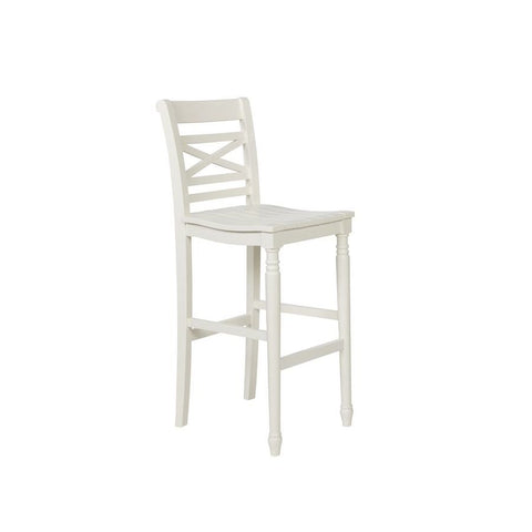Powell Asher Barstool in White