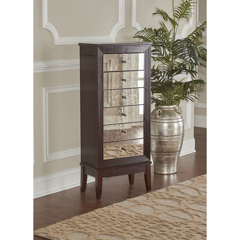 Powell Ava Jewelry Armoire in Cognac