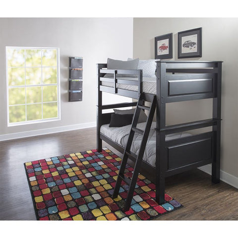 Powell Beckett Twin over Twin Bunk Bed in Black