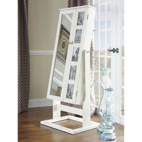 Powell Cheval Photo Armoire in White