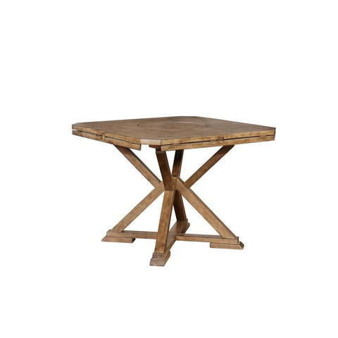 Powell Cohen Counter Table in Weathered Oak Woodgrain