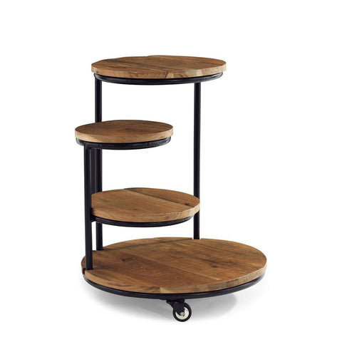 Powell Collis Four Tiered Plant Stand Wheels