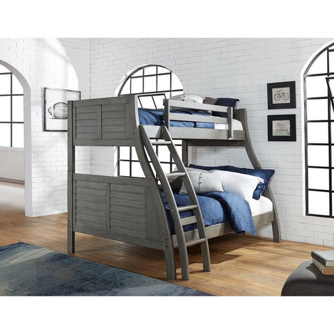 Powell Easton Twin over Full Bunk Bed in Grey