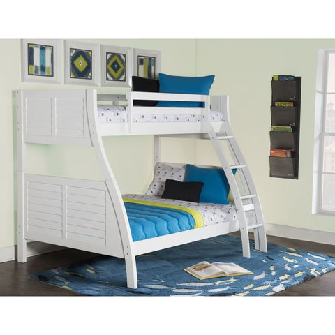Powell Easton Twin over Full Bunk Bed in White