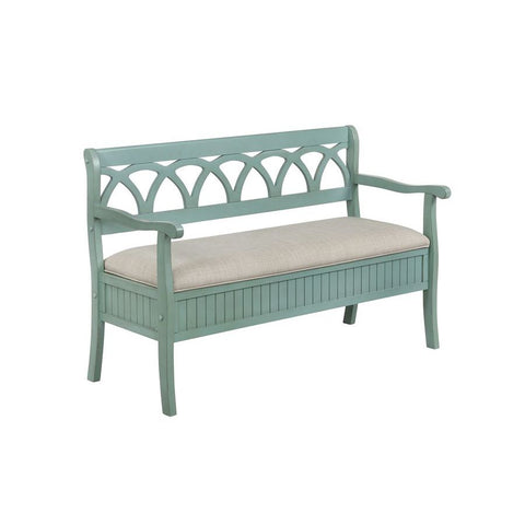 Powell Elliana Storage Bench in Teal