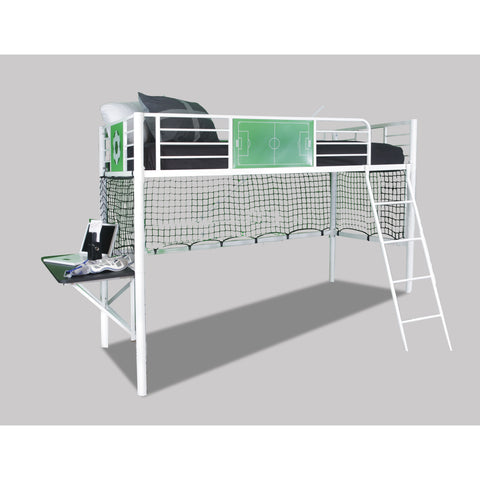 Powell Goal Keeper Loft Bed In White