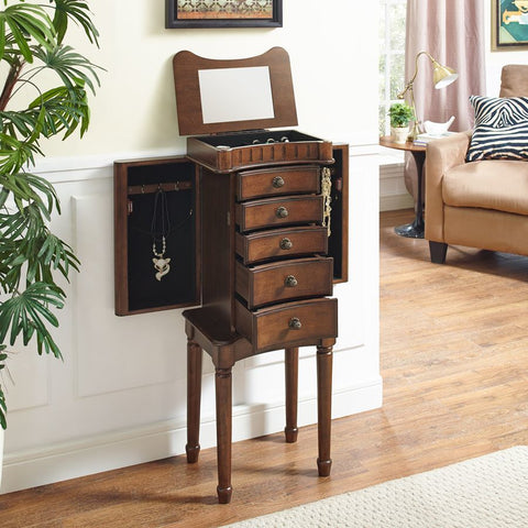 Powell Grace Jewelry Armoire in Walnut