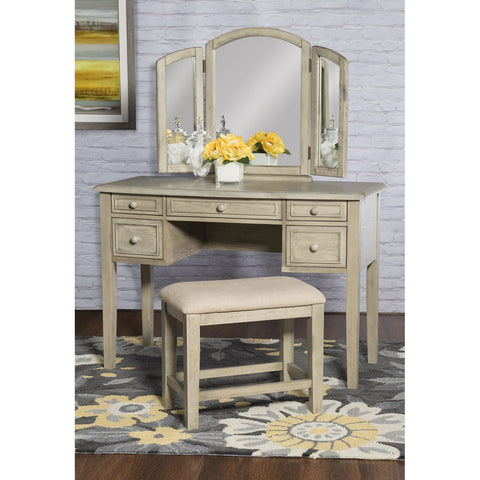 Powell Kara Vanity & Stool in Rustic