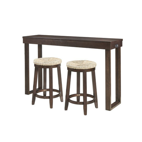Powell Kyler Dining 3 Piece Console Set in Espresso Brown