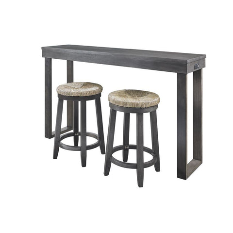 Powell Kyler Dining 3 Piece Console Set in Grey