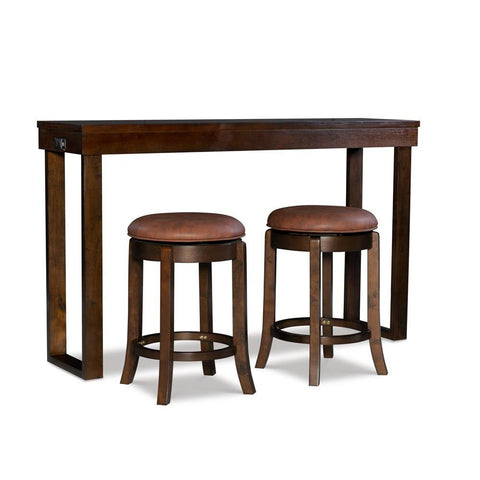 Powell Kyler Dining Console 3PC Brown PU