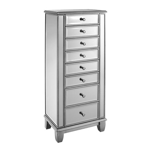 Powell Mirrored Jewelry Armoire, Silver