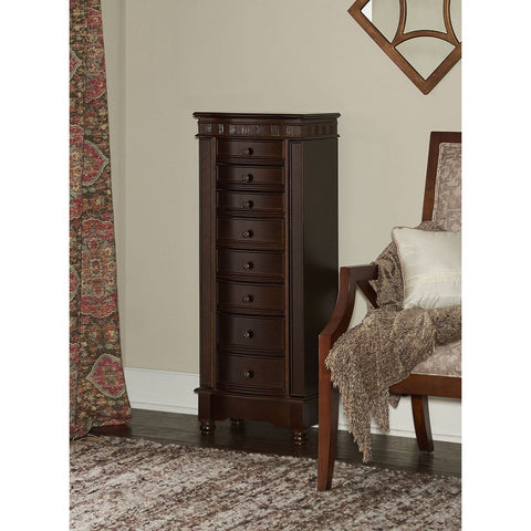 Powell Murphy Jewelry Armoire in Coffee