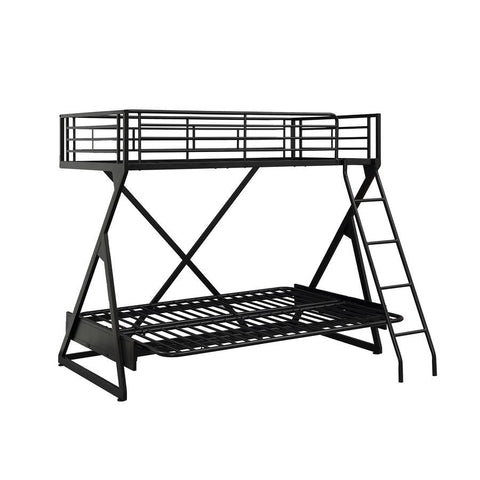 Powell Ross Futon Loft Bed in Black