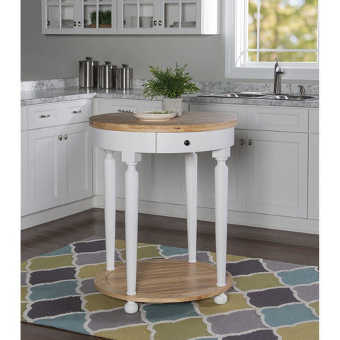 Powell Sheila Kitchen Island in Natural