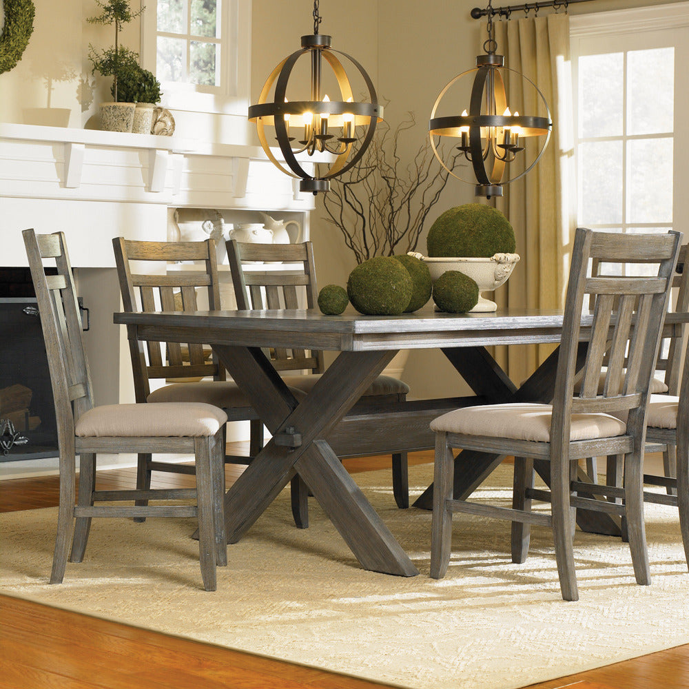 Room Store Dining Room Sets: Powell Turino 5 Piece Rectangle Dining Room Set In Grey