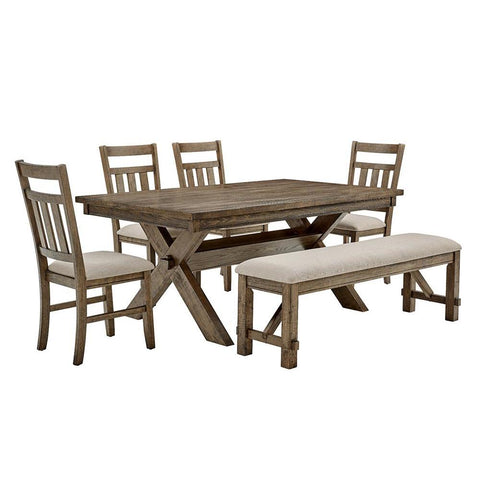 Powell Turino Rustic Umber 6 PC Dining Set