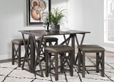 Powell Vance 5 Piece Pub Set in Grey