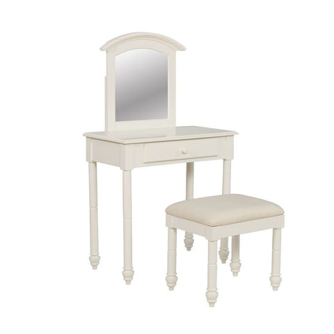 Powell Whitehust Vanity w/Stool in White