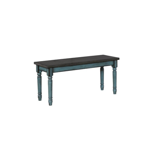 Powell Willow Bench in Teal Blue