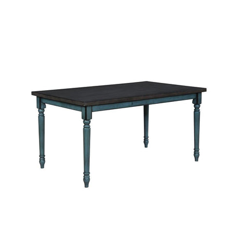 Powell Willow Dining Table in Teal Blue