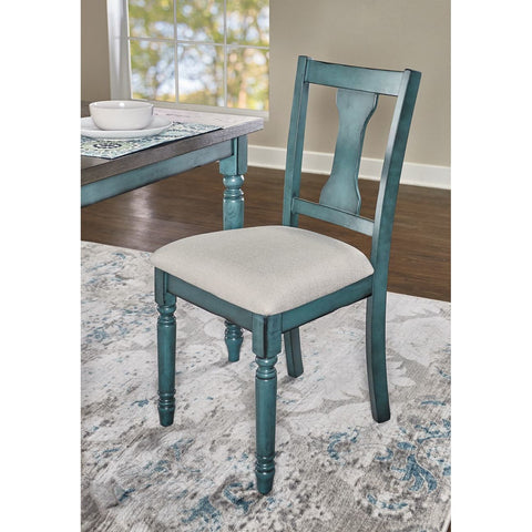 Powell Willow Side Chair in Teal Blue - Set of 2