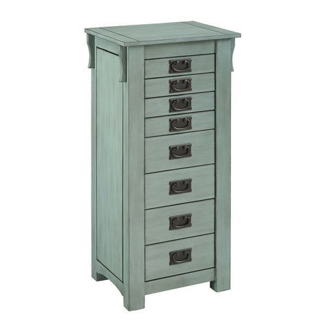 Powell Ziva Jewerly Armoire in Teal